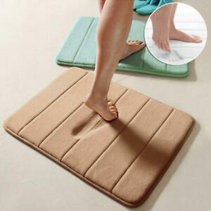 Soft Absorbent Memory Foam Bathroom Non-slip Bath Mat Carpet Rug Shower Decor