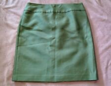 Talbot's Green Straight Knee-Length Silk Cotton Polyester Skirt Size 10 P NWT