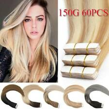 Russian Tape In Hair Extensions 150G Thick Skin Weft Real Human Hair Full Head F