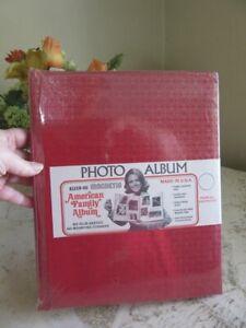 NEW vintage Kleer-vu magnetic photo album. Red, gold
