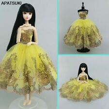 "Yellow Floral Fashion Ballet Dress For 11.5"" Doll Outfits 1/6 Dolls Accessories"