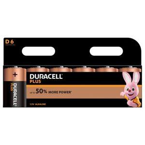 Duracell Plus D LR20 Batteries   6 Pack
