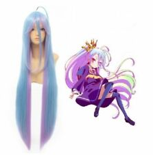 No Game No Life Shiro Event Cosplay Wig Synthetic blue pink Long Straight