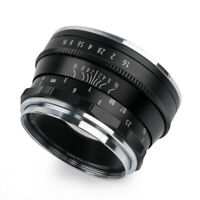 Pergear 35mm F1.6 Manual Fixed Lens for Olympus Panasonic Micro M4/3 Cameras