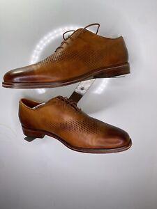 Cole Haan men's Washington Grand Lazer Wingtip Oxfords Leather Lace Up Size 11,5