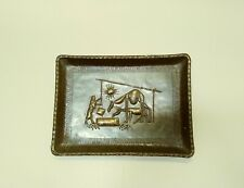 """Copper Tray Wall Hanging Watering Animals 17 1/2""""×12 1/2""""×1"""""""