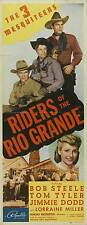 RIDERS OF THE RIO GRANDE Movie POSTER 14x36 Insert