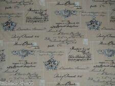 1.3m ROUND MATT oilcloth wipe clean pvc manuscript linen CLARKE TABLECLOTH CO