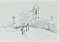 Sonja Wüsten - Havi-hegy, Pécs / Ungarn - Bleistiftzeichnung - o. J.