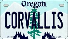 Corvallis Oregon State Background Novelty Motorcycle Plate