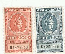 LOTTO MARCHE DA BOLLO A TASSA FISSA - LIRE 1000 e 2000 -  (4)