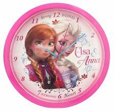 KIDS ROOM WALL CLOCK OFFICIAL DISNEY FROZEN WITH ELSA & ANNA COLLECTABLE