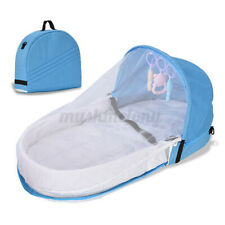 Portable Foldable Baby Crib Travel Mosquito Net Tent Mattress Outdoor Camping