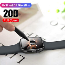 For Apple Watch 5 4 3 2 1 Full Cover UV Liquid Tempered Glass Screen Protector #
