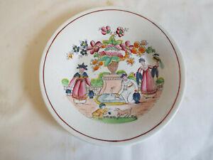 Antique late Georgian porcelain painted saucer dish,Gerrard,Cope & Gerrard,c1820
