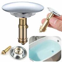 Push POP Up Waschtisch Waschbecken Badewanne Ablauf Ventil Siphon Massiv Messing