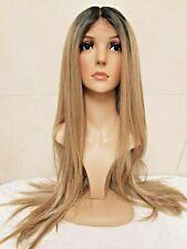 human hair lace wig, silk lace, sandy, light Blonde, mousey medium ash blonde