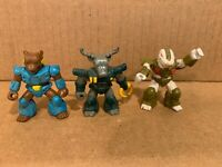 (3)Vintage 1986 Battle Beasts Grizzly Bear,Roaming Buffalo,Gruesome Gator