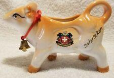 Vintage Switzerland Souvenir Ceramic Cow Creamer