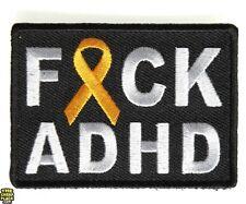 FCK ADHD Orange Ribbon Patch - 2.75x2 inch