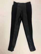 Anthropologie's La Fee Verte Leggings Pants S Small Black Vegan Leather Panels