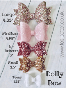 DOLLY BOW Plastic Templates - Trace and Hand Cut - Hair Bow Templates - 9 Sizes