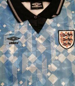 1990 Retro England Football Shirt - Large