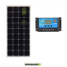Battery Charging Kit Solar Panel 100W 12V mono Charger Controller Boat Caravan v