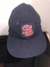 Vintage 1950- 60s St. Louis Cardinals Baseball Hat Boys Cap Dark Blue Leather