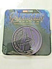 Marvel Avengers Endgame Movie Promo Coin New Marvel Purple Token