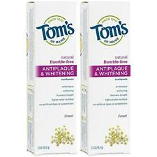Tom's of Maine Fluoride-Free Antiplaque & Whitening Toothpaste, Natural Toothpas