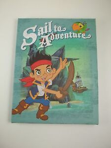 """Canvas Wall Art Picture Sign 8.5""""h Sail to Adventure Jake Never Land Pirates #28"""