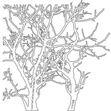 "Crafter's Workshop Masque Mini branches 6""x6"" arbres JOURNAL Craft Art Modèle"
