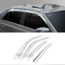Chrome Window Rain Guards Vent Visor Molding Cover C553 for Chrysler 11-16 300C