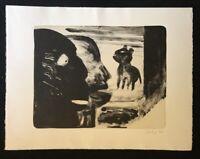 Thomas Wachweger, Viele Nachbarn, viele Übel, Lithographie, 1994, handsigniert