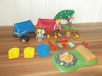 Playmobil 9153 Loisir camping 2 Tentes avec feu