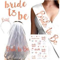 Rose Gold Hens Sash Tiara Bride To Be Crown Bridal Shower Gift Team Bride Decor