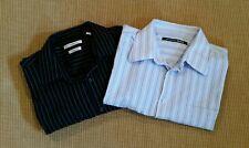 Mens Shirts XL- Lot of 2 L/S Button Front - Moda Campia Shirt/Carbon Black Shirt