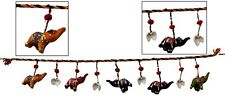 Five Elephant Golden Beads Wall Door Hanging A Indian Ethnic Home Decorative