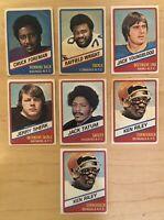 1976 Wonder Bread (7) Football Cards