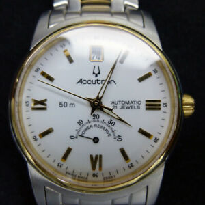 Accutron Automatic 808450 Swiss Made Wrist Watch Power Reserve