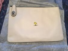 New Coach X Peanuts Woodstock Folio White Limited Edition Numbered #71 of 100