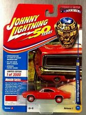 JOHNNY LIGHTNING CLASS OF 1969 DODGE CHARGER R/T MUSCLE CARS U.S.A. FREE SHIP.