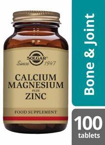 Solgar Calcium Magnesium plus Zinc - 100 TABLETS