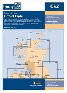Imray Chart C63: Firth of Clyde by Imray (Paperback 2016) New Book