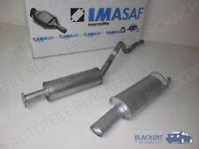 IMASAF Auspuff Set Miteltopf+Endtopf für Opel Kadett E CC 2.0 GSI 95KW 1986-1991