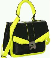 NWT Melie Bianco Sariah Cross-body Bag - Neon Yellow/Black MB