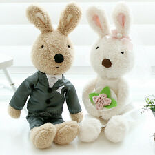 BNWT Lovely Le Sucre Rabbit Wedding Couple Bride&Groom Gift Stuffed Animal Plush