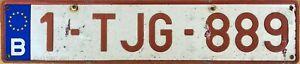 Belgium Belgian Pressed Aluminium Euroband Number LicenseLicense Plate 1-TJG-889