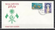 Maldives, Scott cat. 1595-1596. Scout Jamboree, IMPERF. First day cover.